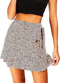 Women's High Waist Plaid Swing Ruffle Frill Mini Bodycon Skirt Gingham Dress