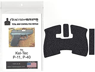 Tractiongrips Rubber Grip Tape Overlay for Kel-Tec P-11, P11 Pistols