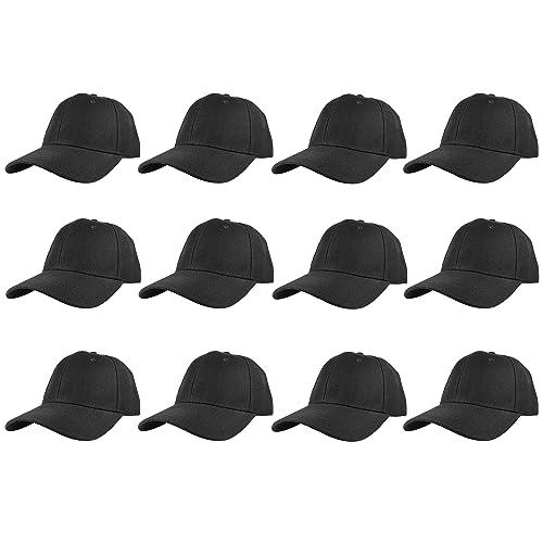 5899a7f1524 Gelante Plain Blank Baseball Caps Adjustable Back Strap Wholesale LOT 12  PC S