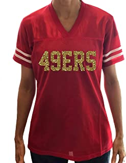 Design your Own Colors Glitter Jersey, Women's Shirt, 49ers or Football Baseball Team or School