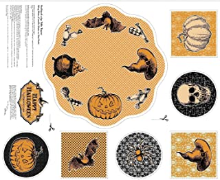 Patrick Lose Fabrics Happy Halloween 62520 Table Topper and Mats Panel 36`` x 44`` supply:lauraotr