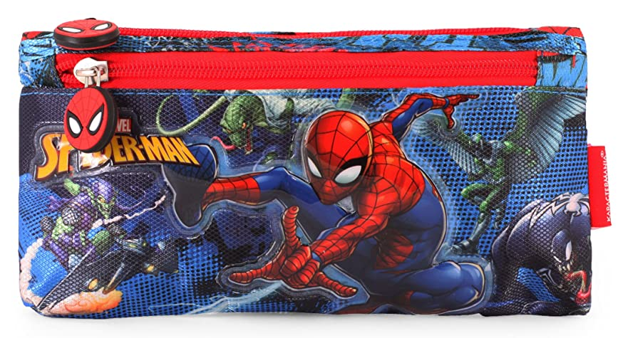 Spider Pencil Cases, 22 cm, Blue (Azul)