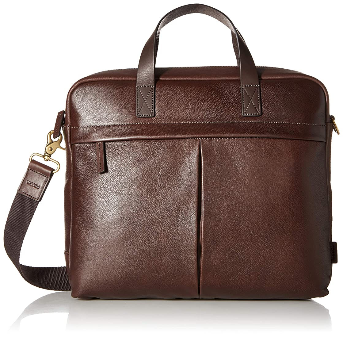 Fossil Men's Buckner Leather Trim Brief Workbag