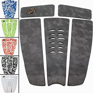 SBBC - Surfboard Stomp Pad - || 5 Piece Stomp Pads || - Custom Fingerprint Texture, Long Lasting Traction Pads for Surfboard & Skimboards