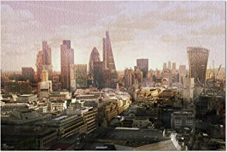 London, England - Skyline at Sunset 9026219 (Premium 1000 Piece Jigsaw Puzzle for Adults, 20x30, Made in USA!)