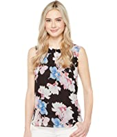 Vince Camuto - Sleeveless Poetic Bouquet Keyhole Blouse