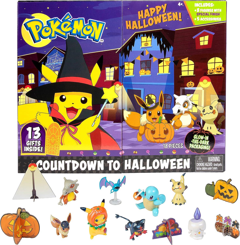 Pokemon 2021 Halloween Advent Countdown Calendar for Kids, 13 Pieces -...