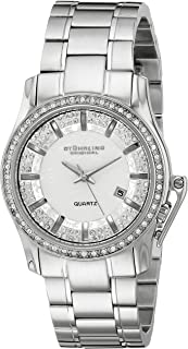 Stuhrling Original Calliope Women's Quartz Watch With White Dial Analogue Display and Silver Stainless Steel Bracelet 910.01