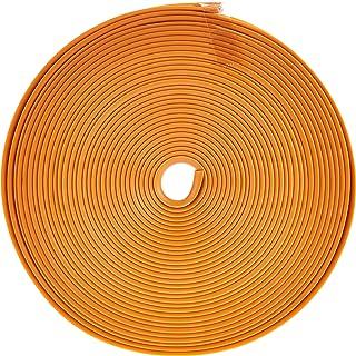 Orange Wheel Rim Protector Tire 8M Guard Line Rubber Flexible Heatproof