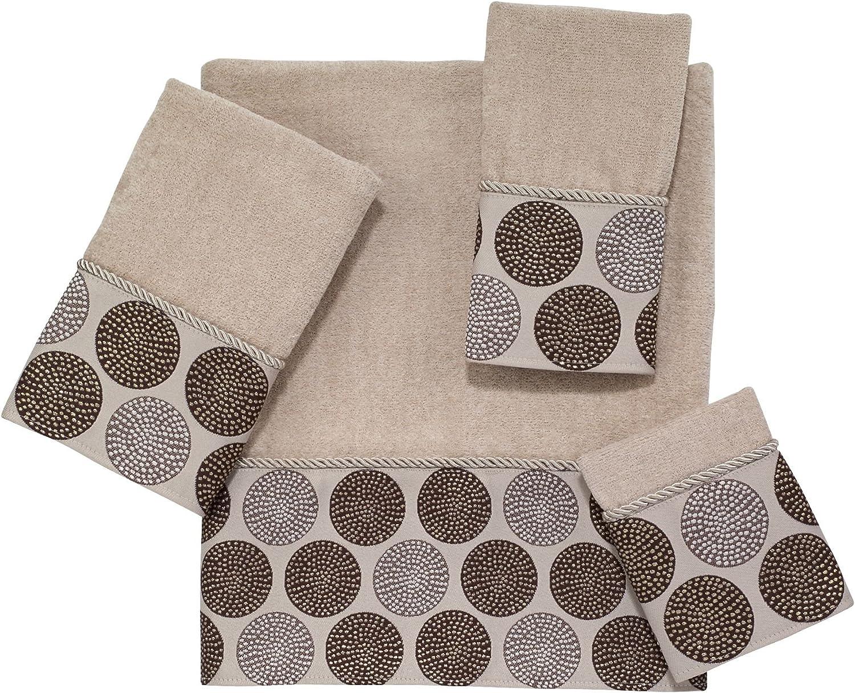 Avanti Linens Dotted Circles Embellished 4-Piece Decorative Towel Set Linen
