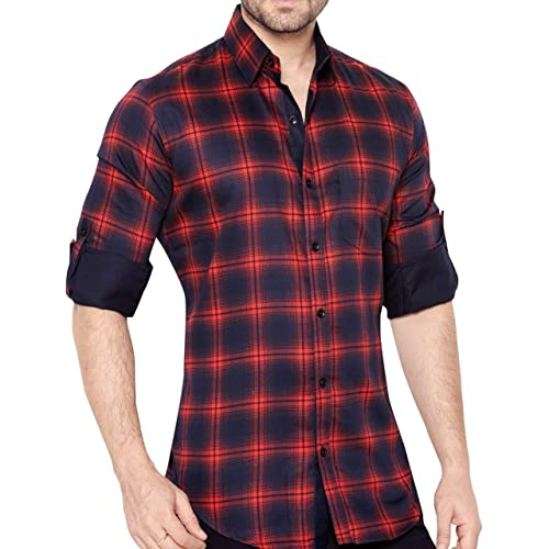 ff5d7fde420 Red Check Shirt: Buy Red Check Shirt Online at Best Prices in India ...