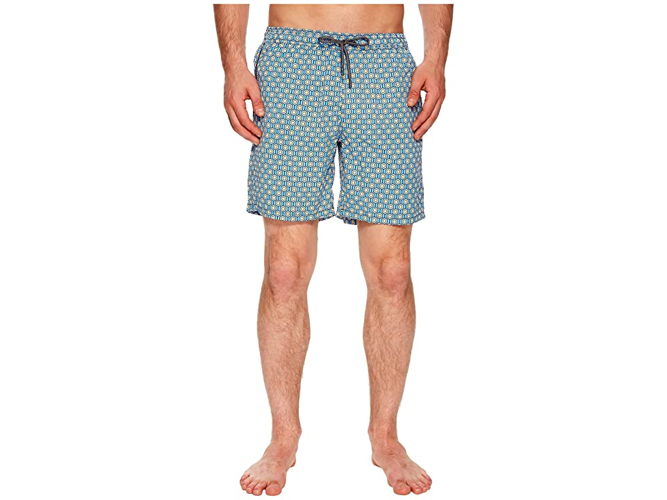 Mr. Swim Geometric Printed Dale Swim Trunks (Periwinkle) Men