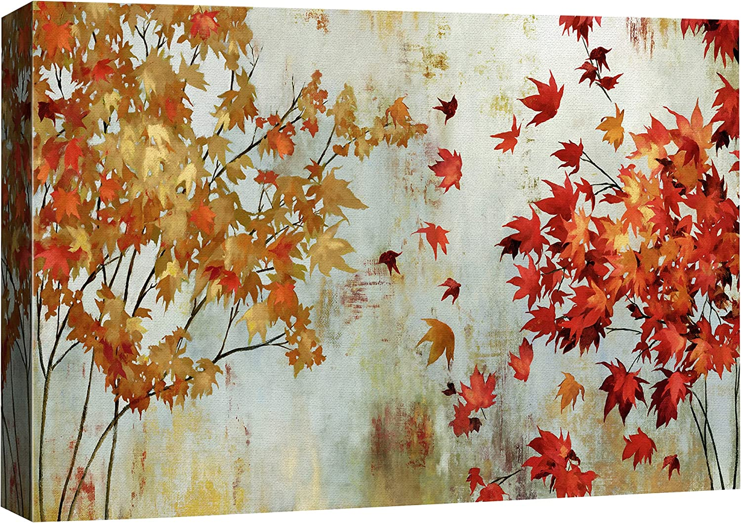 SIGNFORD Canvas Wall Art for Living Room,Bedroom Home Artwork Paintings Abstract Forest Ready to Hang - 16x24 inches