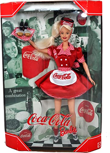Mattel Year 1998 Barbie Collector Edition  Coca-Cola Barbie as a Waitress.