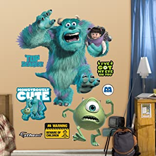 FATHEAD Monsters : Mike, Sully & Boo-Huge Officially Licensed Disney/Pixar Removable Wall Decal