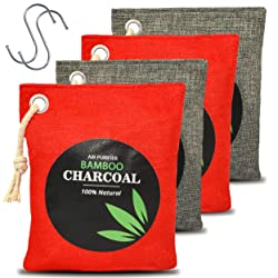 NouviqueWorld Natural Bamboo Odor Eliminator Home Air Purifying Charcoal Bags, Nature Activated Fresh Purifiers