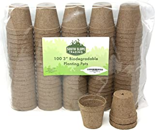 3 Inch Round Peat Pots - 100% Biodegradable Peet Pots for seedlings - Peat Pots Pack of 100 - Peat Pots 3