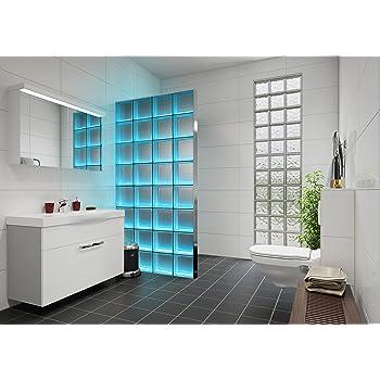 Fuchs Design - Mampara de bloques de vidrio claro con iluminación: Amazon.es: Bricolaje y herramientas