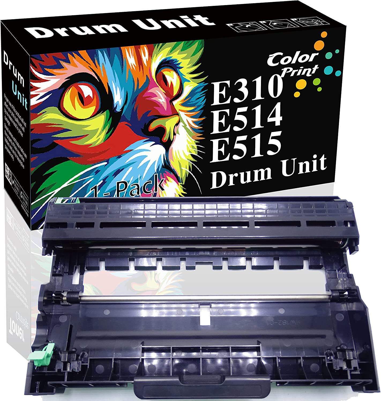 ColorPrint Compatible E515dw Drum Unit Replacement for Dell E310 E514 E515 Work with E310dw E515dw E515DN Printer (1-Pack, 12,000 Pages, Black)