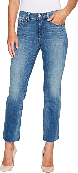 Marilyn Ankle Jeans w/ Raw Hem in Premium Denim in Beacon