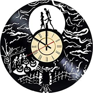 Christmas Town Vinyl Clock Gift for Nightmare Before Christmas Fans Halloween Town Wall Decor Jack Skellington Art Sally Living Room Artwork