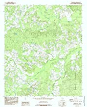 Texas Maps - 1984 Shelbyville, TX USGS Historical Topographic Map - Cartography Wall Art - 44in x 53in