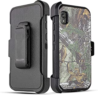 Moto E6 case, 6goodeals with Built-in [Screen Protector] Heavy Duty Full-Body Triple Layers Protective Armor Holster Defen...