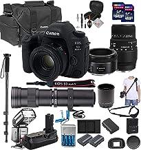 $2999 » Canon EOS 5D Mark IV with 50mm f/1.8 STM and Sigma 70-300mm f/4-5.6 DG Lenses, 420-1600mm f/8-16 Super Zoom Lens, 128GB, Quick Release Shoulder Strap, TTL Flash, Professional Bundle