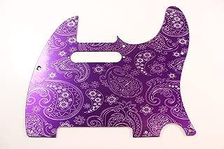 Brushed Purple Paisley Anodized Aluminum Tele Pickguard- Fits Fender Telecaster- USA MADE!