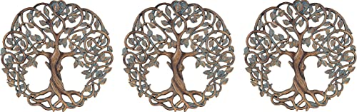 high quality Old River new arrival Outdoors Tree of Life Wall Plaque 11 5/8 Inches Decorative Celtic Garden Art discount Sculpture (Pack of 3) online sale