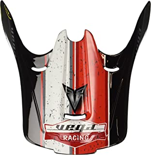 Vega Replacement Visor for Viper Jr. Off-Road Helmet with The Old Skool Color Graphic (Red)
