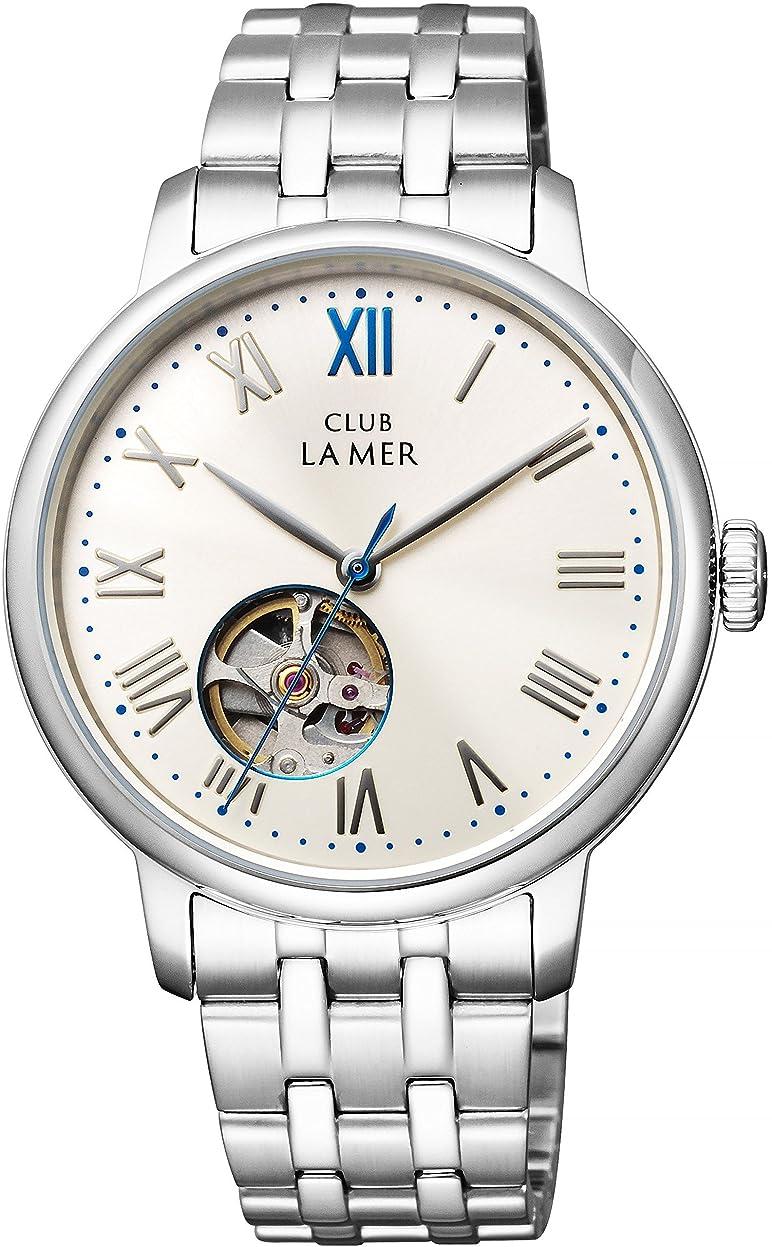 カーフ資金抑止する[シチズン]CITIZEN CLUB LA MER クラブ?ラ?メール 機械式腕時計 シースルーバック オープンハート BJ7-018-11 メンズ