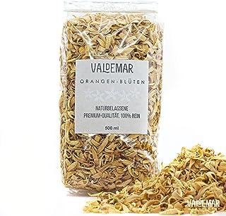 Valdemar Manufaktur Premium essbare ORANGENBLÜTEN, 500ml Neroli-Blätter - HANDVERPACKT In Deutschland