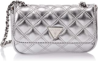 Guess Womens Cross-Body Handbag, Silver - MY767974