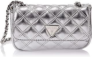 Guess Flora, Women's Shoulder Bag, Silver (SilverSil