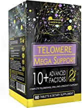 Actif Telomere Mega Support with 10+ Factors, Non-GMO, for Energy, Memory and Anti-Aging Support, Made in USA, 60 count