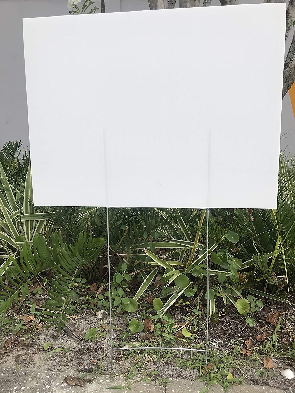 New sales Yard Sign Pack of 10 Blank 18''x24'' Max 54% OFF mm x White Corrugate 4