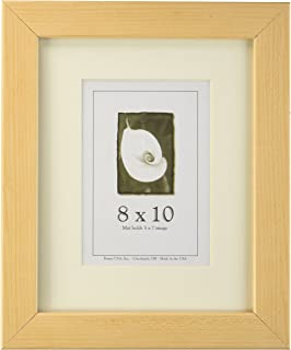 8x10 Wood Picture Frame (American Maple) - Made in the USA