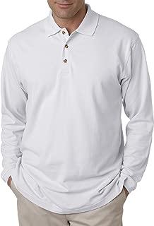Men's Long Sleeve Pique Polo