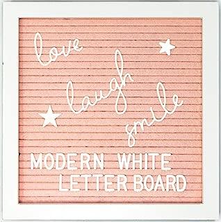 Felt Letter Board Message Board - 10x10 with Stand Includes 340 White Plastic Letters +Bonus 22 Script Words and Symbols. Changeable, Letter Board, Message Board, Sign Board, Word Board