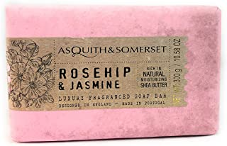 Asquith & Somerset Rosehip & Jasmine Moisturizing Shea Butter Fragranced Soap Bar 10.58 oz