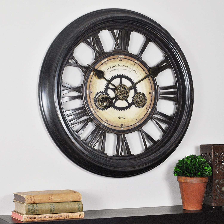 FirsTime Gear Works Wall Clock
