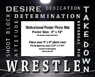 Apple Creek Wrestling Motivational Poster Photo Mat 8