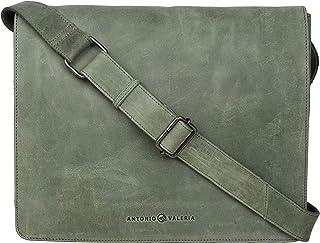 Sponsored Ad - Antonio Valeria Albert Green Premium Leather Messenger Bag for Men