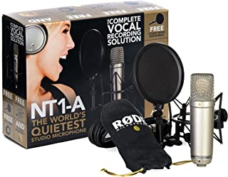 Rode NT1-A-MP Stereo Studio Vocal Cardioid Condenser Microphones, Matched Pair