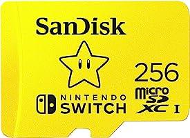 SanDisk SDSQXAO-256G-GNCZN MicroSDXC UHS-I-Kaart Voor Nintendo Switch, Geel, 256GB
