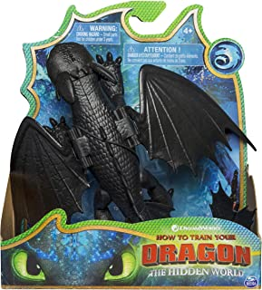 Dreamworks Dragons, Toothless Dragon Figure with Moving Parts, for Kids Aged 4 and Up