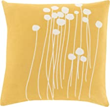 Surya LJA004-1818P Synthetic Fill Pillow, 18-Inch by 18-Inch, Gold/Ivory