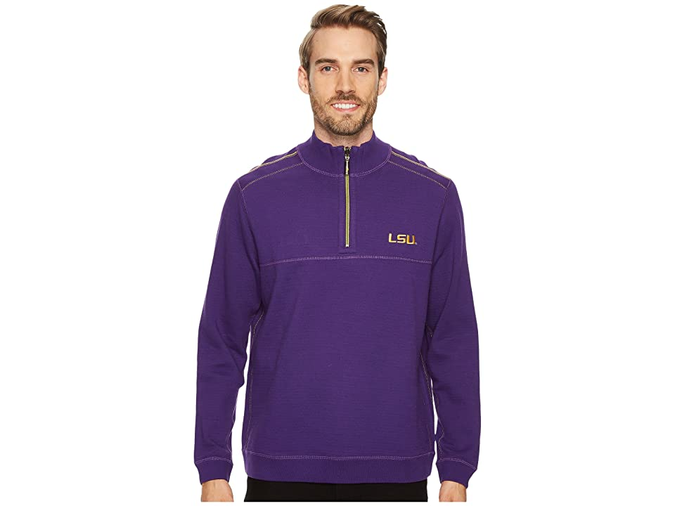 Tommy Bahama LSU Tigers Collegiate Campus Flip Sweater (Louisiana State University) Men