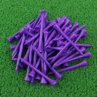 purple wooden golf tees
